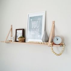 Image of 100cm Natural Leather Strap Shelf