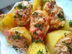 Cartofi umpluți cu carne... Originali pentru prînz sau cină.
