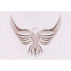 Stitching Cards Eagle pattern