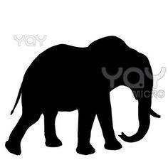 Resultado de imagem para riscos silhueta para pintar de elefante