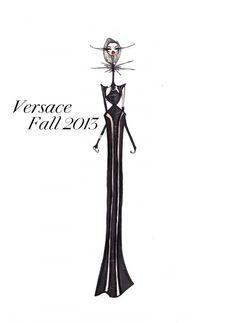 Versace Fall 2013 Illustration by Jamie Lee Reardin