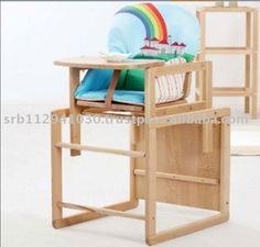 Cradle Panda Wooden Baby High Chair