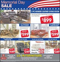 Hurry Up ! 2 days more available for Memorial day sale. Buy all of your choice luxury furniture online with easy finance only on leonfurniturestore.com