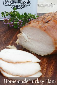Homemade Turkey Ham Are you getting tired of buying products for your family only to find that they contain ingredients that are less than healthy for you? Turkey Ham, Smoked Turkey, Smoked Ham, Charcuterie, Meat Sandwich, Sandwich Ideas, Sandwich Recipes, Appetizer Recipes, Cheese