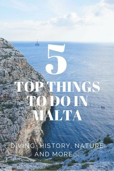 Top Five Things to Do in Malta. malta travel beautiful places for your bucket list. UNESCO sites, scuba diving, beaches, historic ruins and cities. rugged coast lines. blue oceans. Malta must see on Europe trip. beautiful European ocean and Malta island. malta valletta travel!  ☆☆ Travel Guide / Ideas by #Inspiredbymaps ☆☆