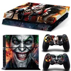 Joker design PVC material skin stickers for PS4 Console and controllers game decals for PS4 #Affiliate