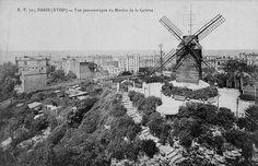Le Moulin de la Galette Paris 18ème Paris France, Paris 1900, Old Paris, Vintage Paris, Old Pictures, Old Photos, Vintage Photos, Montmartre Paris, Street Photography