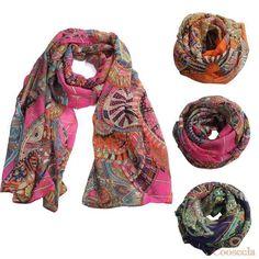 2015 Amazing Coming Fashion Women Girl Chiffon Printed Silk Long Soft Scarf Shawl Scarf Cooseela