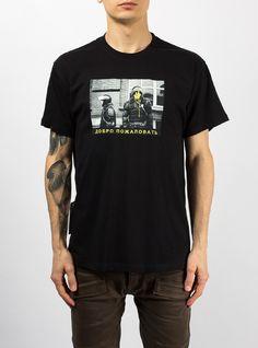 yunost youth streetwear brand moscow black t-shirt police club    Футболка Беспорядок – Каталог    Футболка «СМП» Добро пожаловать – Каталог