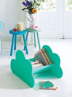 Diy Crafts Ideas : DIY Cloud Book Caddy
