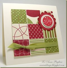 like the idea. nice way to use scraps. change the paper for any occasion