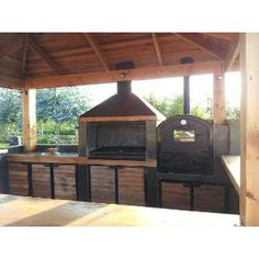 Now that a frigging backyard grill Outdoor Kitchen Patio, Outdoor Kitchen Design, Outdoor Living, Outdoor Decor, Backyard Projects, Outdoor Projects, Barbecue, Parrilla Exterior, Bbq Shed
