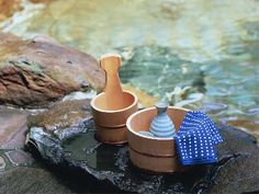 Japanese Oke, Wooden buckets used for bath.