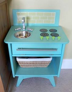 Play kitchen from nightstand