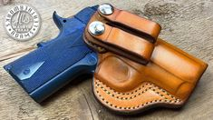 Making an IWB (Inside the Waistband) Leather Holster, 1911 3 Inch 1911 Iwb Holster, Leather Iwb Holster, Pistol Holster, Holsters, Leather Pattern, Craft Patterns, Leather Working, Leather Craft, Guns
