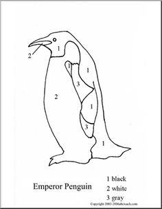 numeral tracing penguin - Google Search