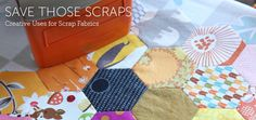 Get creative with your quilting scraps with the ideas and tutorials presented in this Scrap Quilting Handbook!  - via @Craftsy