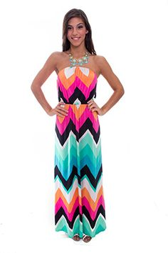 Back In Stock! Chevron Strapless Maxi Dress #LuckyB