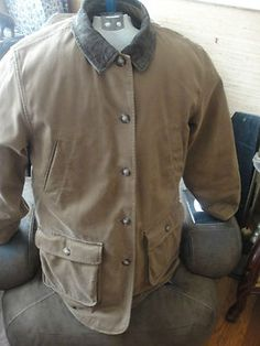 Unisex Barn Coat with quilted lining-very good for outdoorsy people men or women. This is Land's End and is identical to adirondack barn coat by LL Bean.