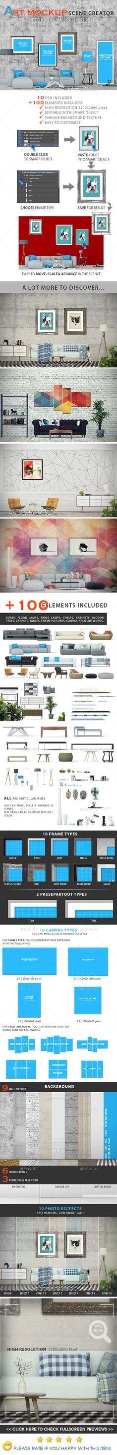 Scences Creator Art Mockup_ LivingroomArt Mockup Scences Creator _ Living room is easy and simple way that you create your own li