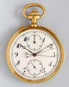 Minute Repeater Split Chronograph with Register - Bogoff Antique Pocket Watch # 7007
