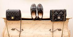Shoes, Christian Louboutin; Bags, CHANEL