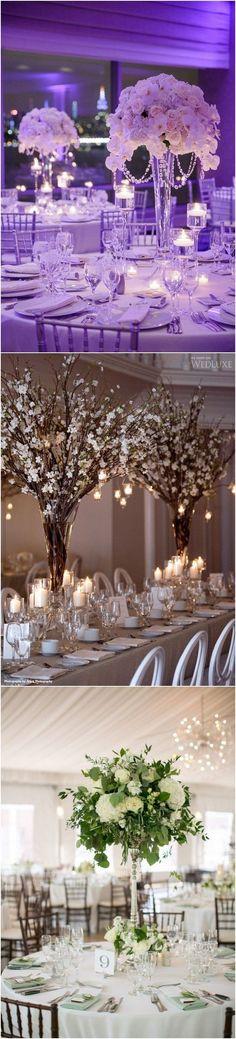 Tall wedding centerpiece ideas