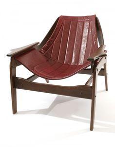 Jerry Johnson Mid Century Danish Modern Sculptural Lounge