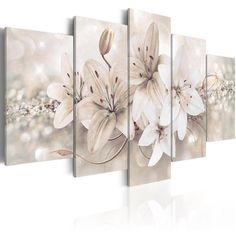 Living Room Canvas Prints, Canvas Art Prints, Living Room Art, Canvas Wall Art, Winter Princess, Art Pour Salon, Images Murales, White Lily Flower, Lotus Flower