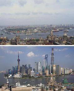 Shanghai in 1987 vs 2013