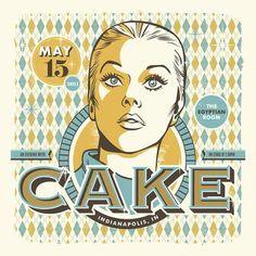 Cake concert poster design: The Inspiration Stream | Graphic Design