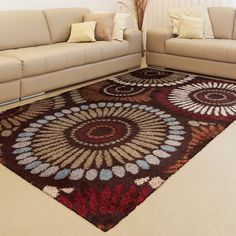 Refresh your floor with this contemporary shag rug. Made in Turkey, this rug features a bold floral design of warm tones. The 1.28-inch pile on this unique polypropylene rug gives your space a soft finish and an inviting, fun detail.