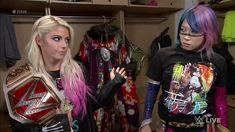 RAW Women's Champion Alexa Bliss Backstage with Asuka Lexi Kaufman, Raw Women's Champion, Total Divas, Wwe Divas, Backstage, Bliss, Punk, Wrestling, Inspiration