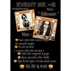 """Ikuti Photocontest event ke -2 """" Halloween """" Menangkan hadiah jutaan rupiah nya... . SYARAT & KETENTUAN :  1. Terbuka Untuk Umum  2. Hijab dan Non Hijab 3. Usia 15 s/d 27 Tahun  4. Biaya Registrasi 50.000 5. Estimasi Penilaian 30% vote 70%juri 6. Mengirimn Foto Full Body dan close up bertemakan Halloween ke line official VirgiaPhotoContest di profil. 7. Wajib Menfollow Sponsor  Hadiah utama:  Juara 1 = UT 1 Jt Juara 2 = UT 500rb Juara 3 = UT 300rb  Favorite = 1 Buah Hijab Virgia by…"""