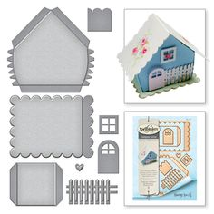 Shapeabilities Build A House Etched Dies from the Joyous Celebrations Collection by Sharyn Sowell