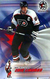 Philadelphia Flyers - Eric Lindros Flyers Hockey, Hockey Players, Eric Lindros, Candy Images, Philadelphia Sports, Fly Guy, World Of Sports, Bullies, Lacrosse