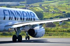 A320 @Finnair, www.finnair.com line up Rw12 Tenerife Norte.