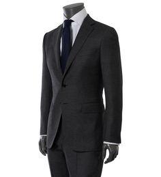Slate gray suit by Raffaele Caruso Brown