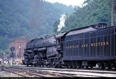 RailPictures.Net Photo: NW 1218 Norfolk & Western Steam 2-6-6-4 at Iaeger, West Virginia by Steve Barry / www.railroadphotographer.com