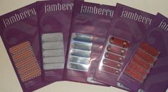 JAMBERRY NAIL WRAPS CHRISTMAS FROSTY SPARKLE NEW MANI PEDI  LOT 5               #JAMBERRY