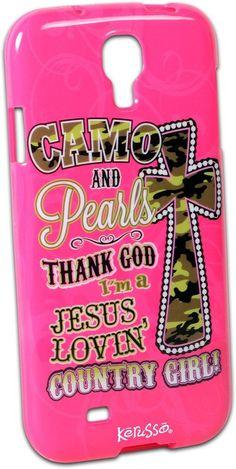 Camo & Pearls Galaxy 4 Phone Case