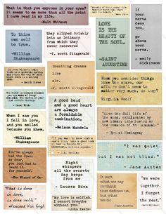 Printable Scrapbook Paper, Scrapbook Stickers, Printable Stickers, Printable Quotes, Quote Collage, Collage Sheet, Collage Book, Scrapbook Quotes, Scrapbook Journal