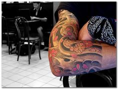cherry blossom sleeve tattoos - Google zoeken