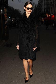 Elegance from Olivia Palermo during Paris Fashion Week.