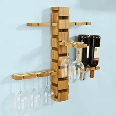 SoBuy Design Weinregal, Wandregal, Flaschenhalter, Weinglashalter, Hängeregal, Gläserhalter, FRG90-N SoBuy-Regal http://www.amazon.de/dp/B019SYE31K/ref=cm_sw_r_pi_dp_LDdZwb1TNK8BF