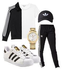 """""""Untitled #116"""" by rabiamiah on Polyvore featuring Monki, adidas, adidas Originals and Tommy Hilfiger"""