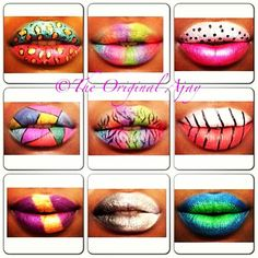 Cool lip art by @theoriginalajay Which is your favorite? #lipart #lips #lipstick