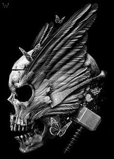 Skully valkyrie anf thor's hammer