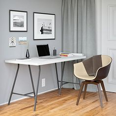 Powell world map printing curved x sided computer desk desks white wood 57x28 computer desk work station drawing table with 2 dark gray solid steel crosscut trestle legs gumiabroncs Image collections