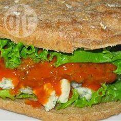 Hamburgers de poulet Buffalo au fromage bleu